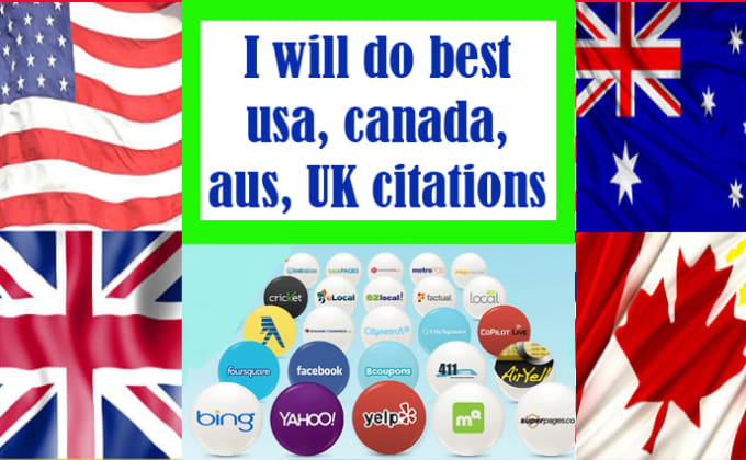 I will do best usa,  canada,  aus,  UK citations