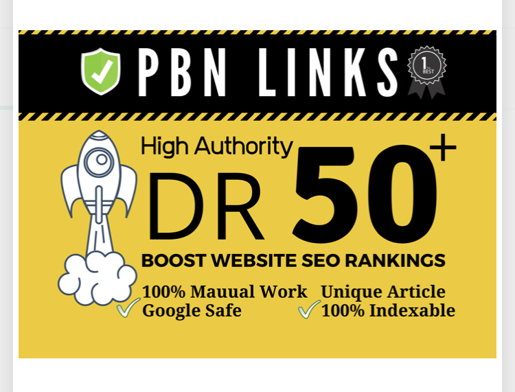 I will build 6 manual high dr50 plus homepage pbn dofollow backlink