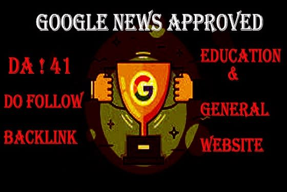 I will write and publish guest post on da 41 google news approved