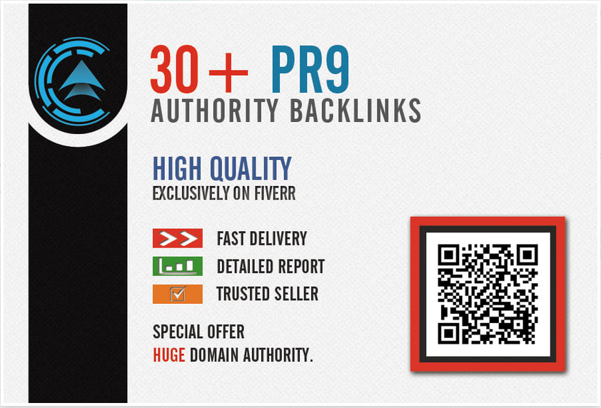 I will create high PR backlinks,  exclusive seo links to increase domain authority
