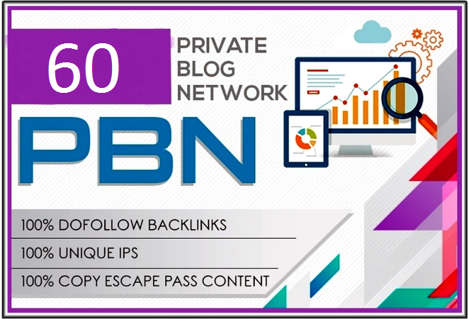 Get 60 high metrics pbn posts contextual backlinks