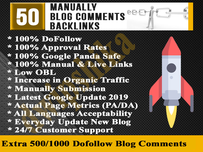 I will create manually 50 live blog comments High Quality