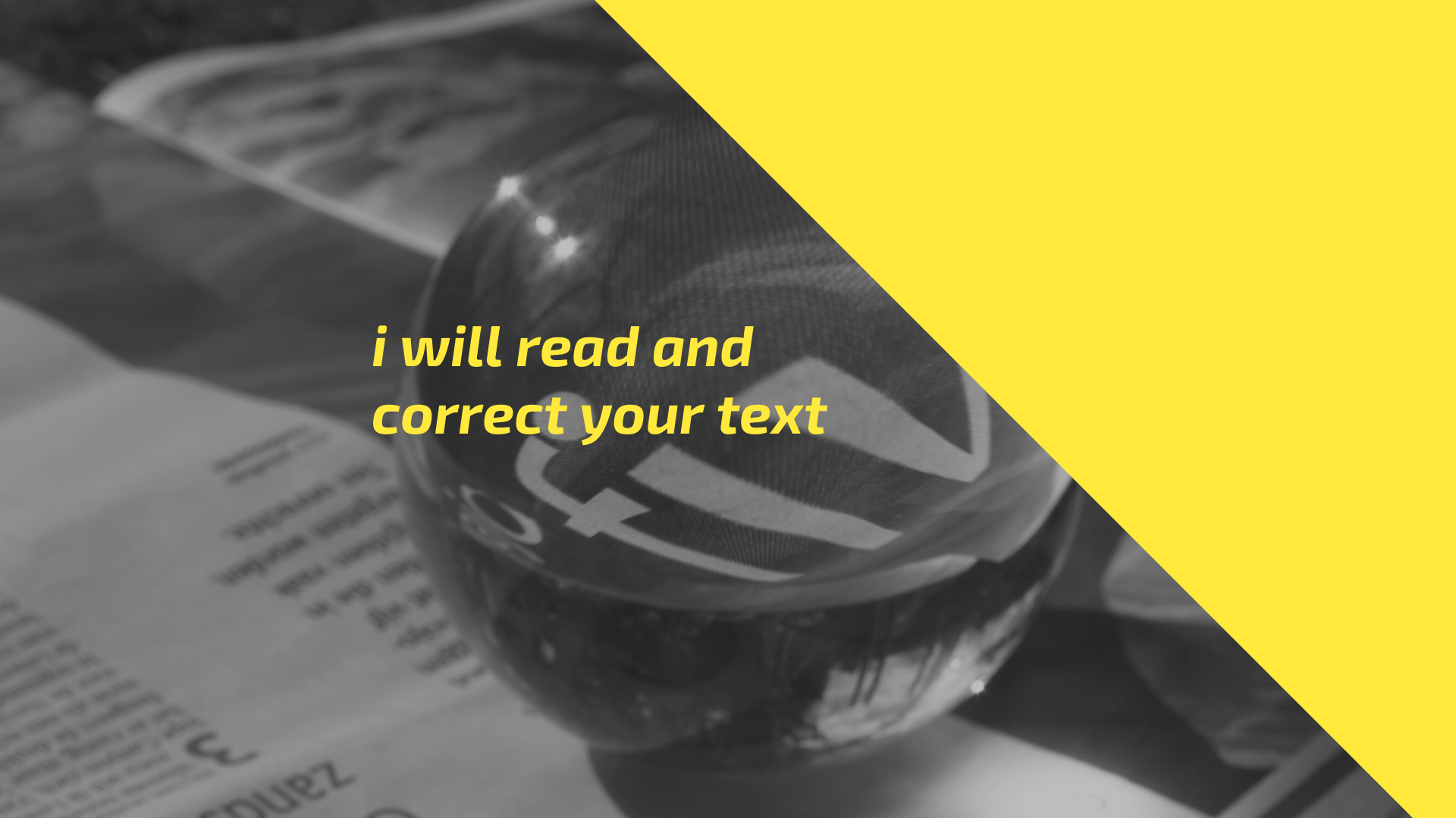 I Will Read And Correct Your Text