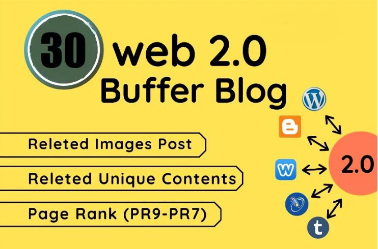 I will make 30 high authority dofollow web 2.0 backlinks for your ranking