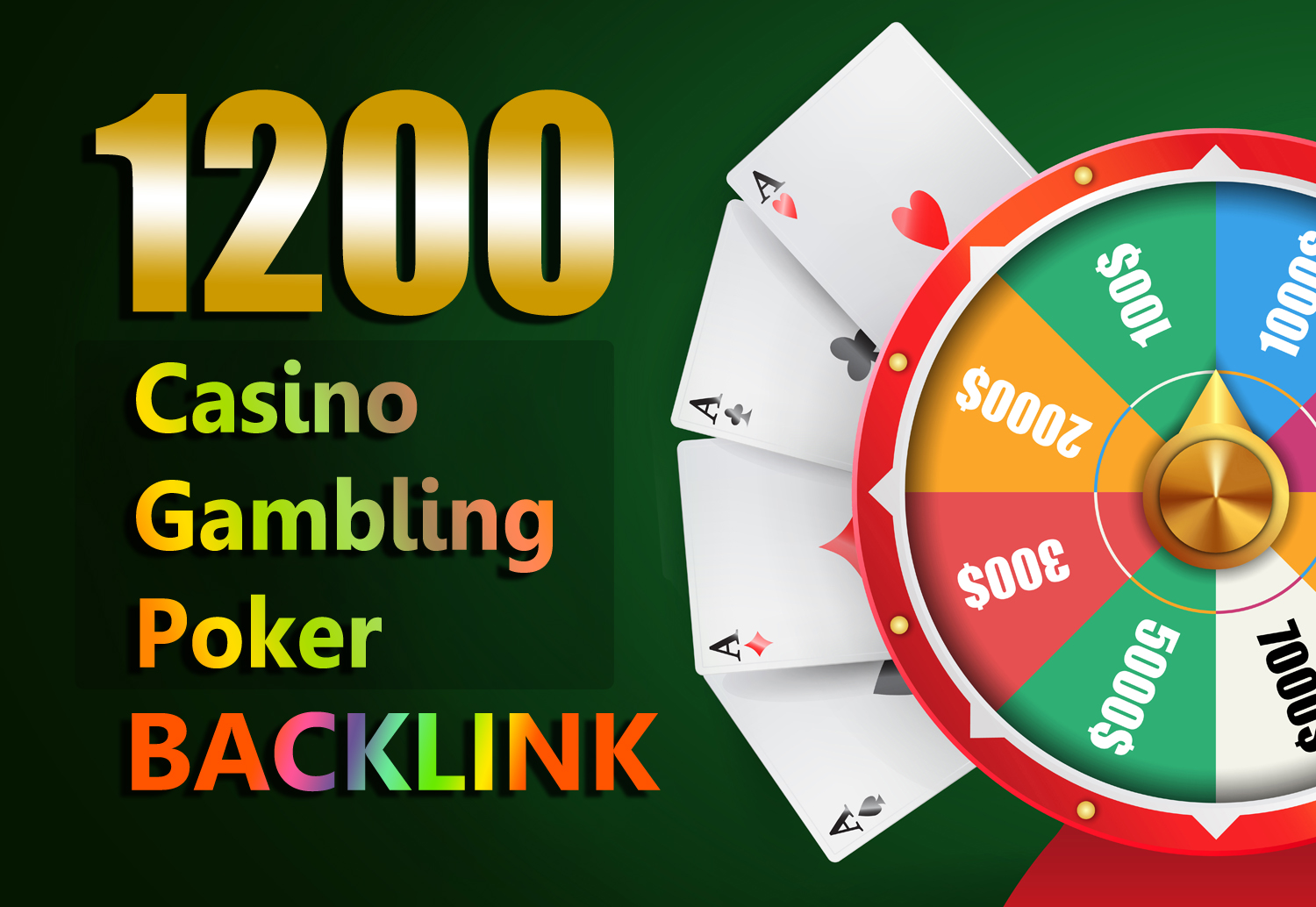 Permanent Website Ranking 1200 Casino,  Poker,  Gambling Boost backlinks