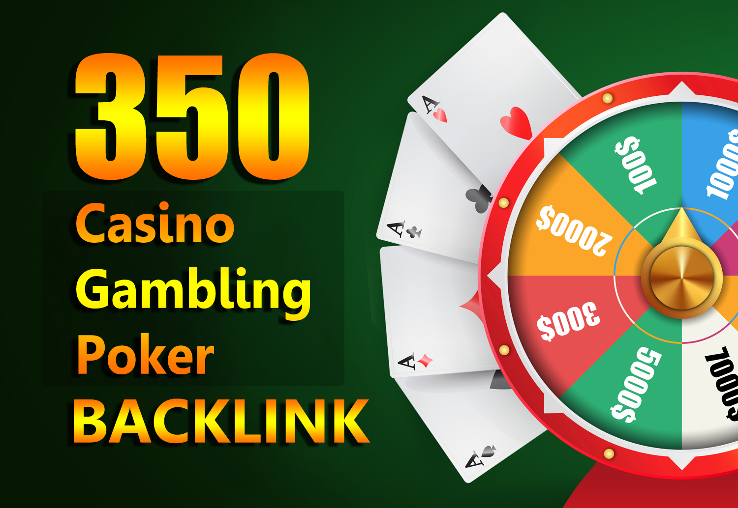 Permanent Website Ranking 350 Casino,  Poker,  Gambling Boost backlinks