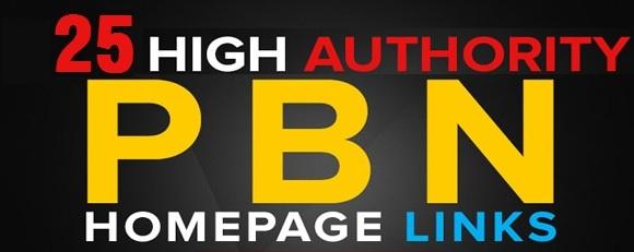 25 High Quality DA 55+ Homepage Dofollow PBN Backlinks
