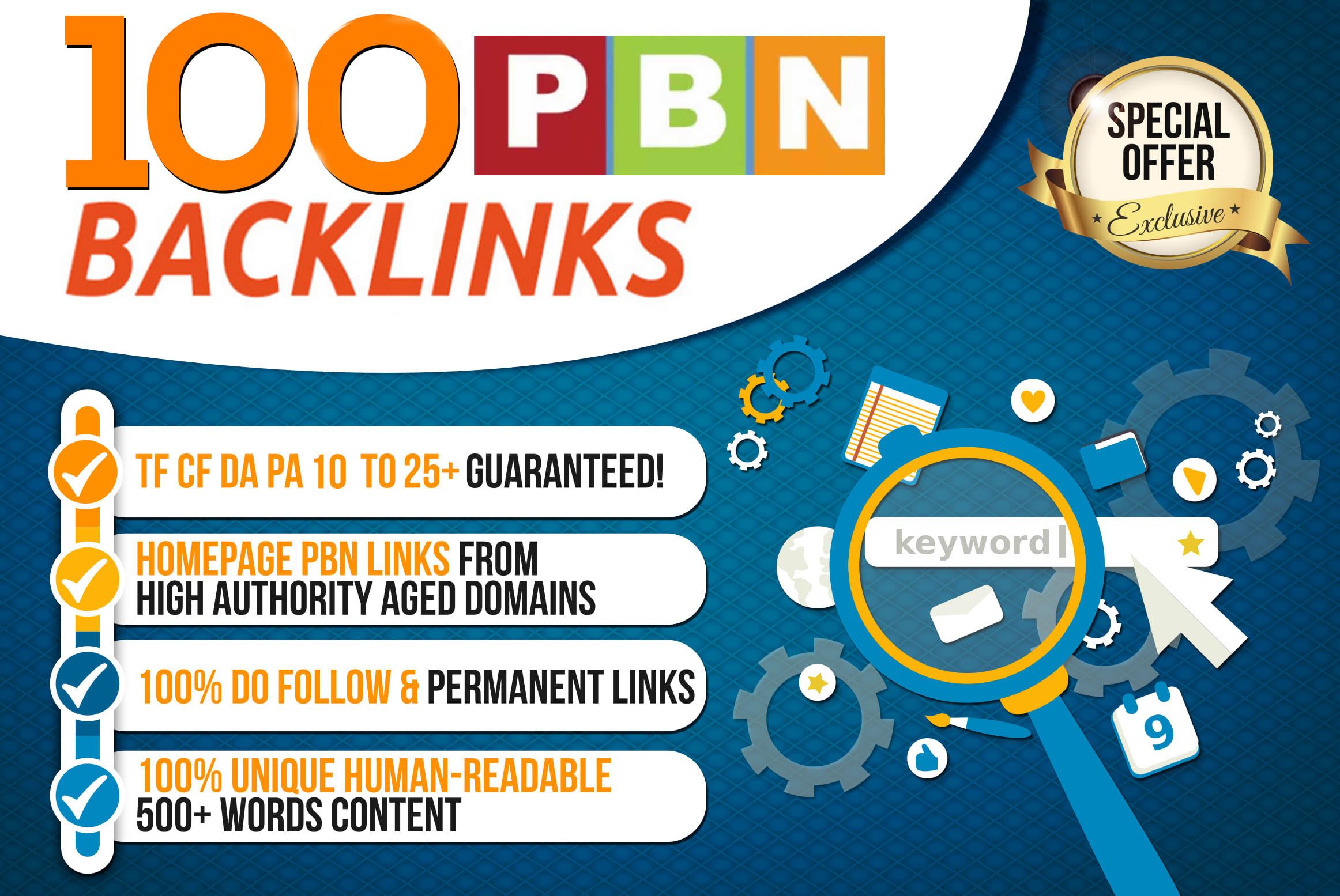 Build 100 Permanent DA 40-25 Homepage PBN Dofollow Backlink
