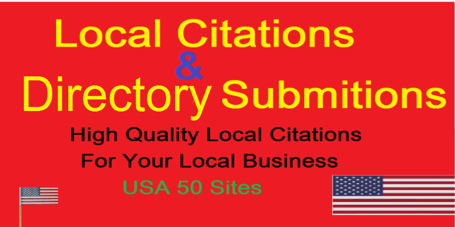 directory submission or local citations for your local business in USA 50 sites local seo