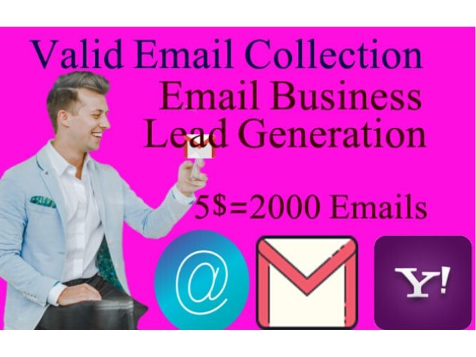 I will collect 2000 targeted,  place niche base email using LinkedIn sales navigator