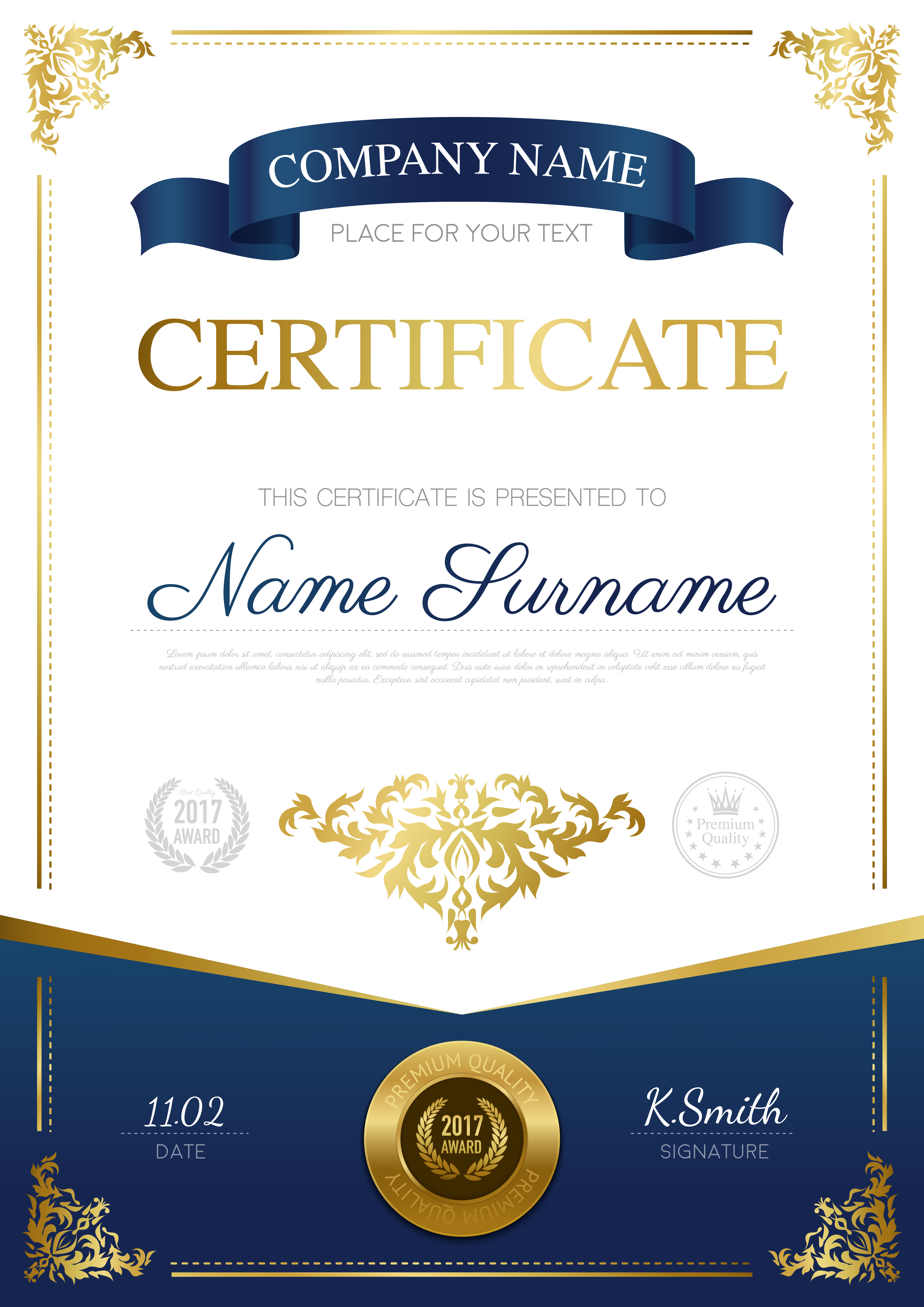 certificate stylish template vector award appreciation professional diploma border freepik background frame layout vectors illustration gold certificates recognition graphic vecteezy