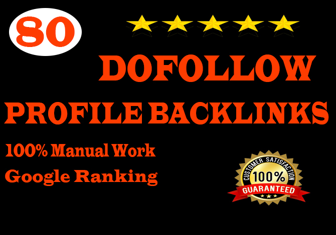 create manually 80 pr9 profile backlinks for ranking your website