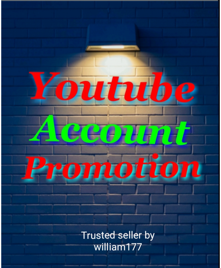 I WILL DO FAST YOUTUBE ACCOUNT PROMOTION