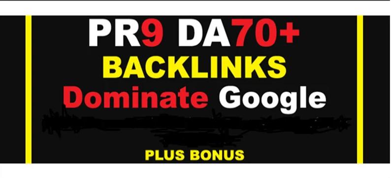 I will Build PR9 DA 70+ High Quality SEO Dofollow Backlinks ina 24 hours.