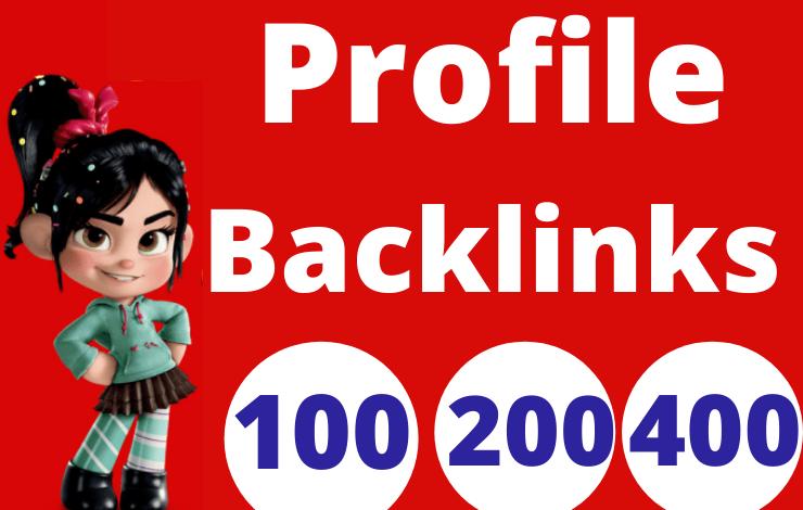 100 Profile Backlinks High Quality SEO Dofollow
