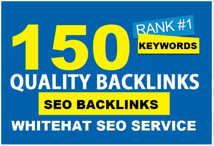 I will 150 authority backlinks manual SEO link building service for google top ranking