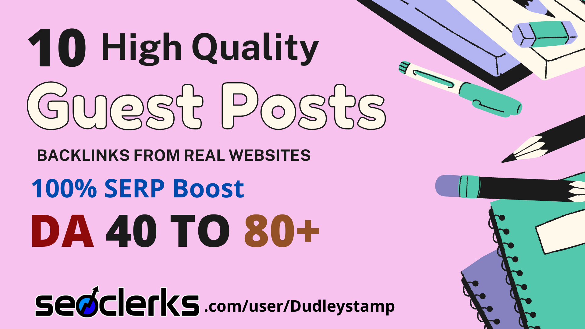 I will do 10 high quality guest posts on DA 40 to 90+ real traffic blogs with permanent backlinks