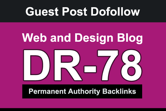I will Guest Post on high DR 78 web and design blog