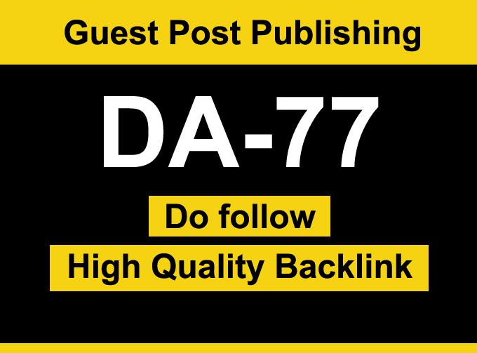 I will Guest Post on DA 77 News blog