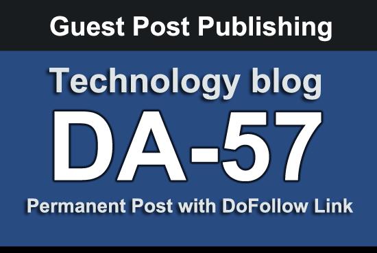 I will Guest Post on high DA 57 technology blog
