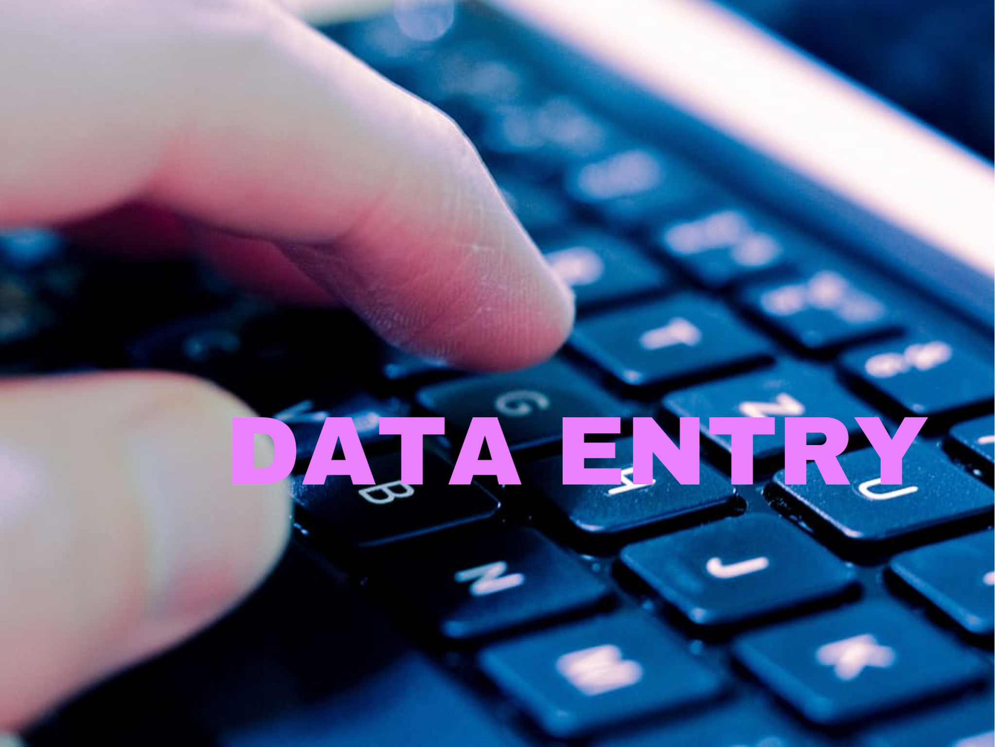 Accurate and Reliable Data Entry Services