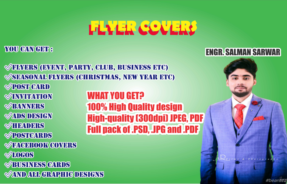 I will design flyer covers, event covers and album covers