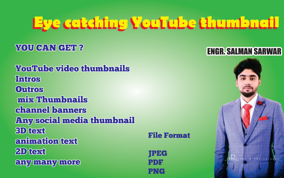 I will create eye catching YouTube,social media thumbnails