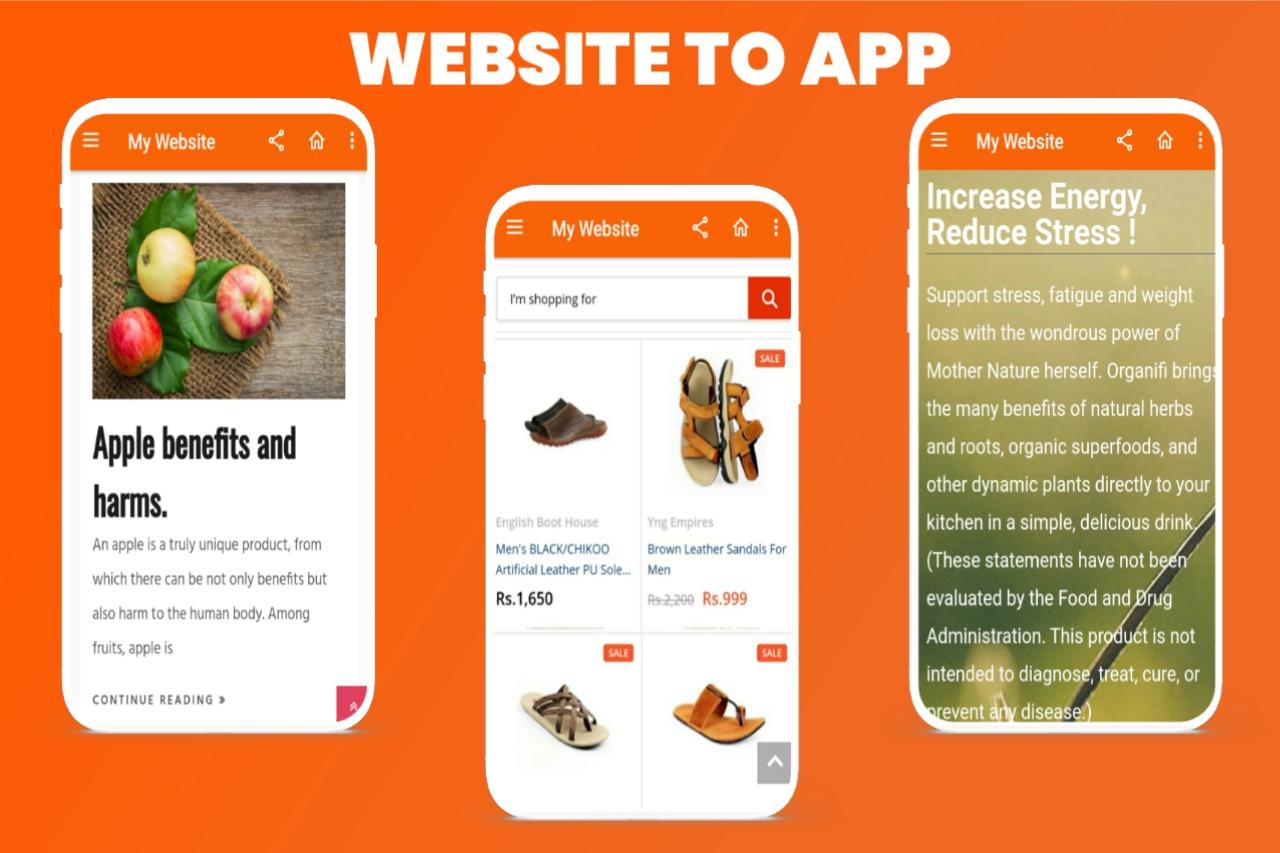 Convert website to an android app | Get your website app