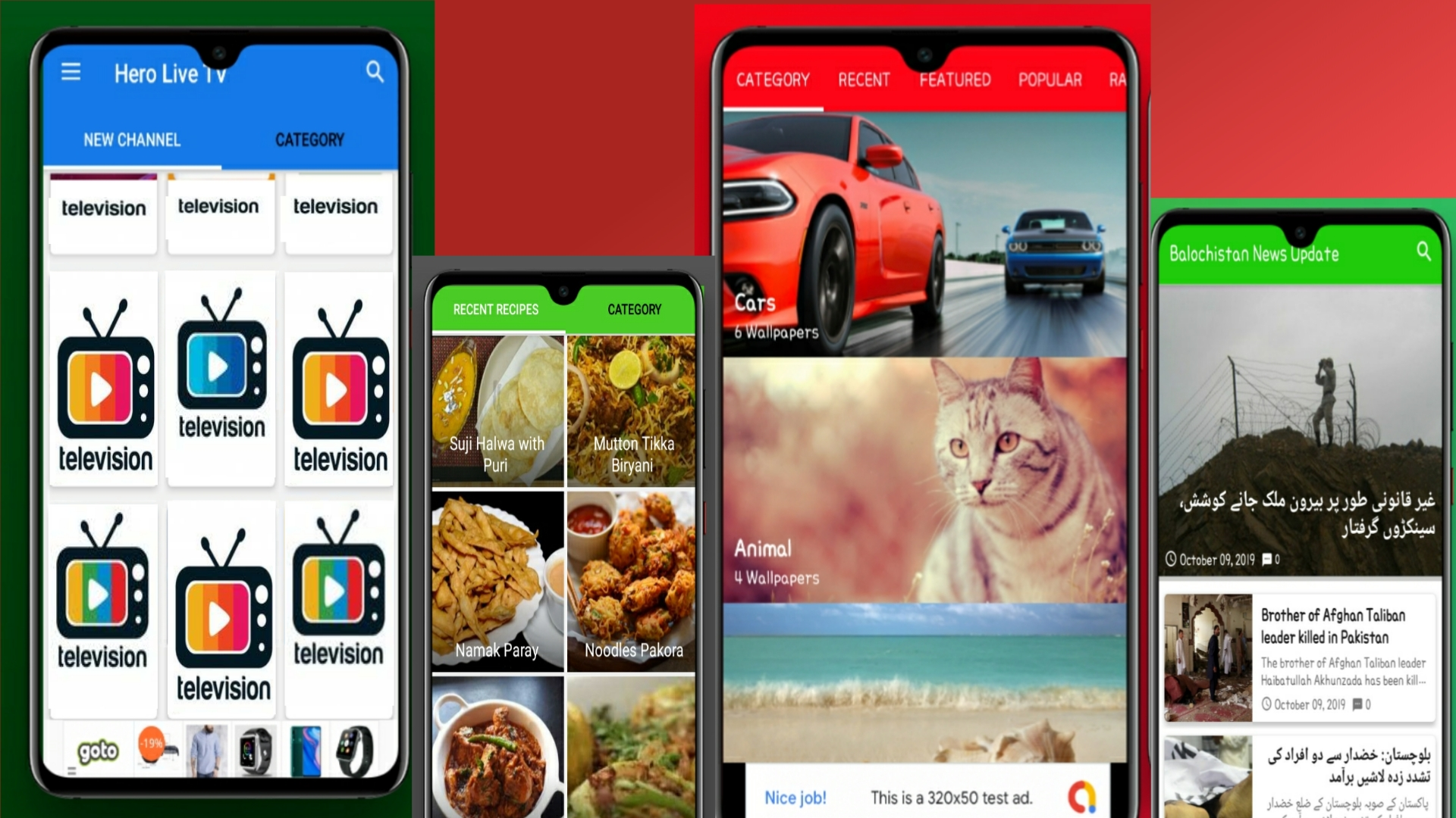 Create News,Live TV, Recipes or Wallpaper App. Earn Money with Ads