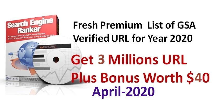give you fresh 5million plus gsa ser verified list april 2020