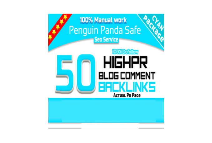 Do manually 50 links High Pr Dofollow blog comments