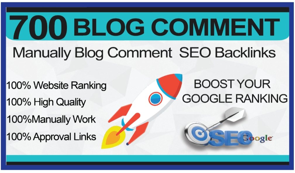 I will create manually 700 high blog comments
