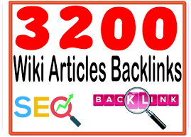 Provide 3200 HQ. Wiki articles PR6 to PR10 Backlinks and rank higher on Google