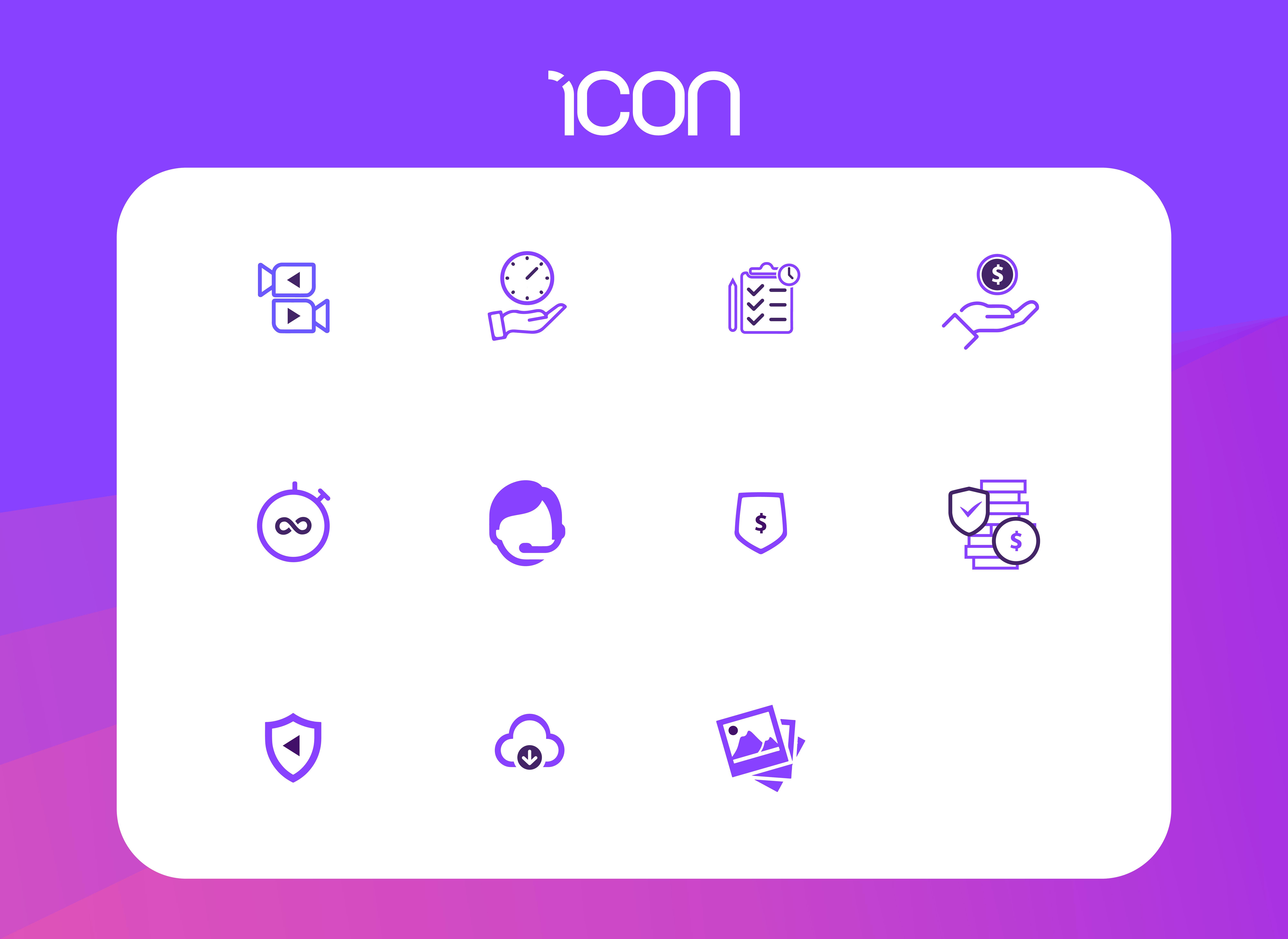 I will design professional custom icon set