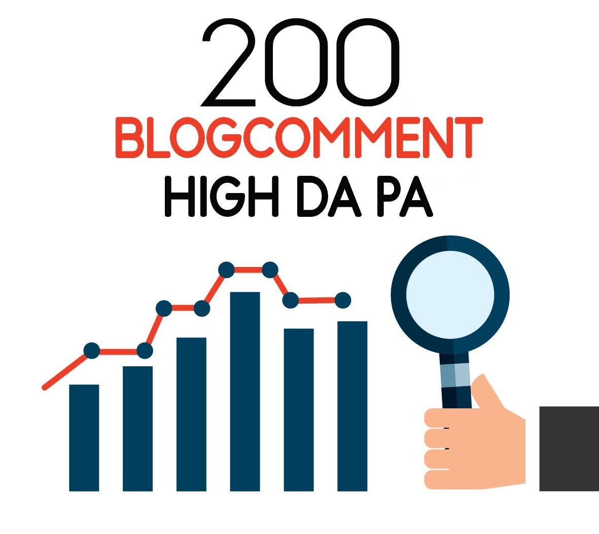 I will do 200 dofollow blog comment high DA PA quality backlinks