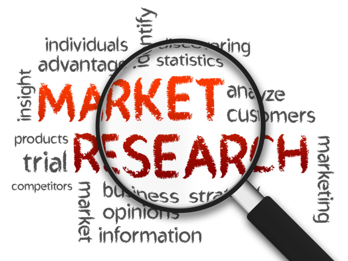I will do market research or any research project