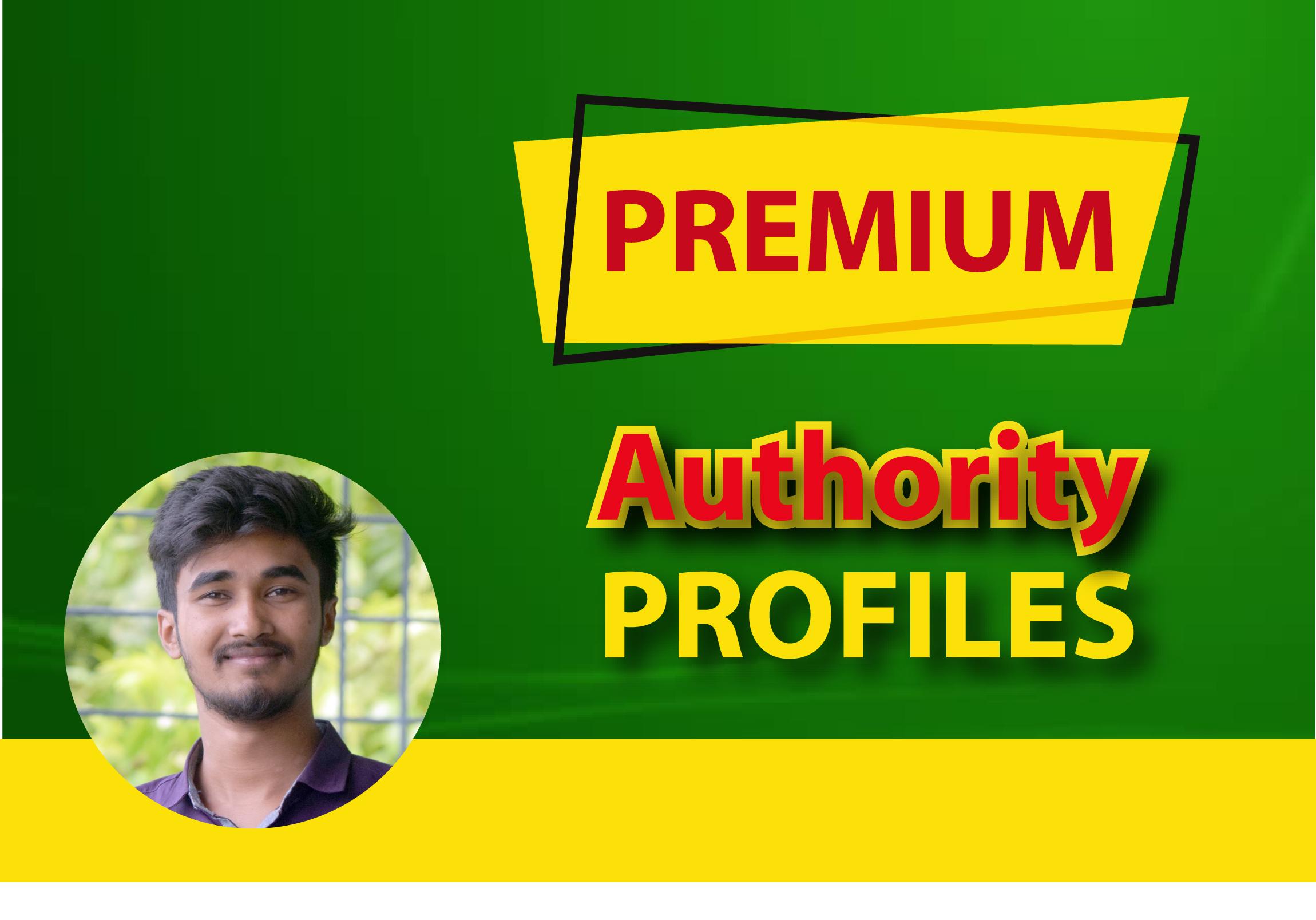 I will build high authority profile backlinks SEO