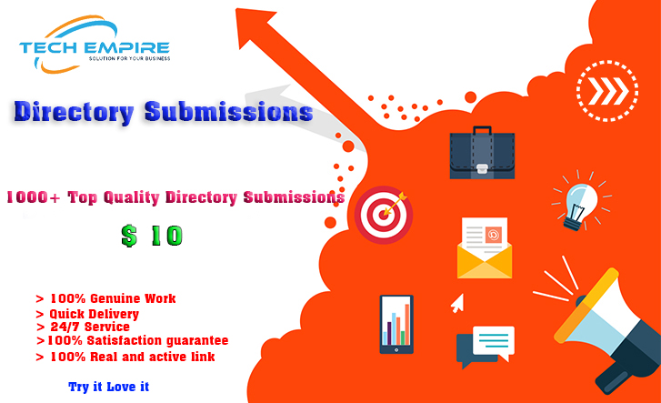 1000+ Genuine Directory Submissions upto PR9
