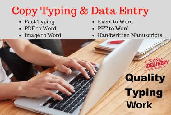 I will do typing job,  retype 50 pages in 24h