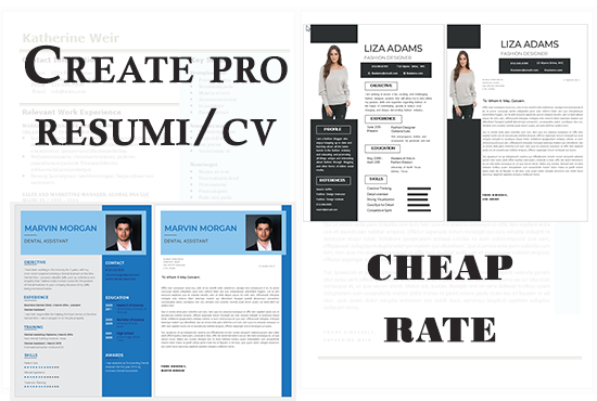 I will design a professional eye catching and Job Winning Resume.
