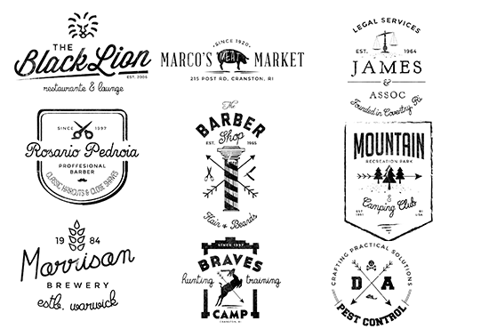 I will design gorgeous retro or vintage logo