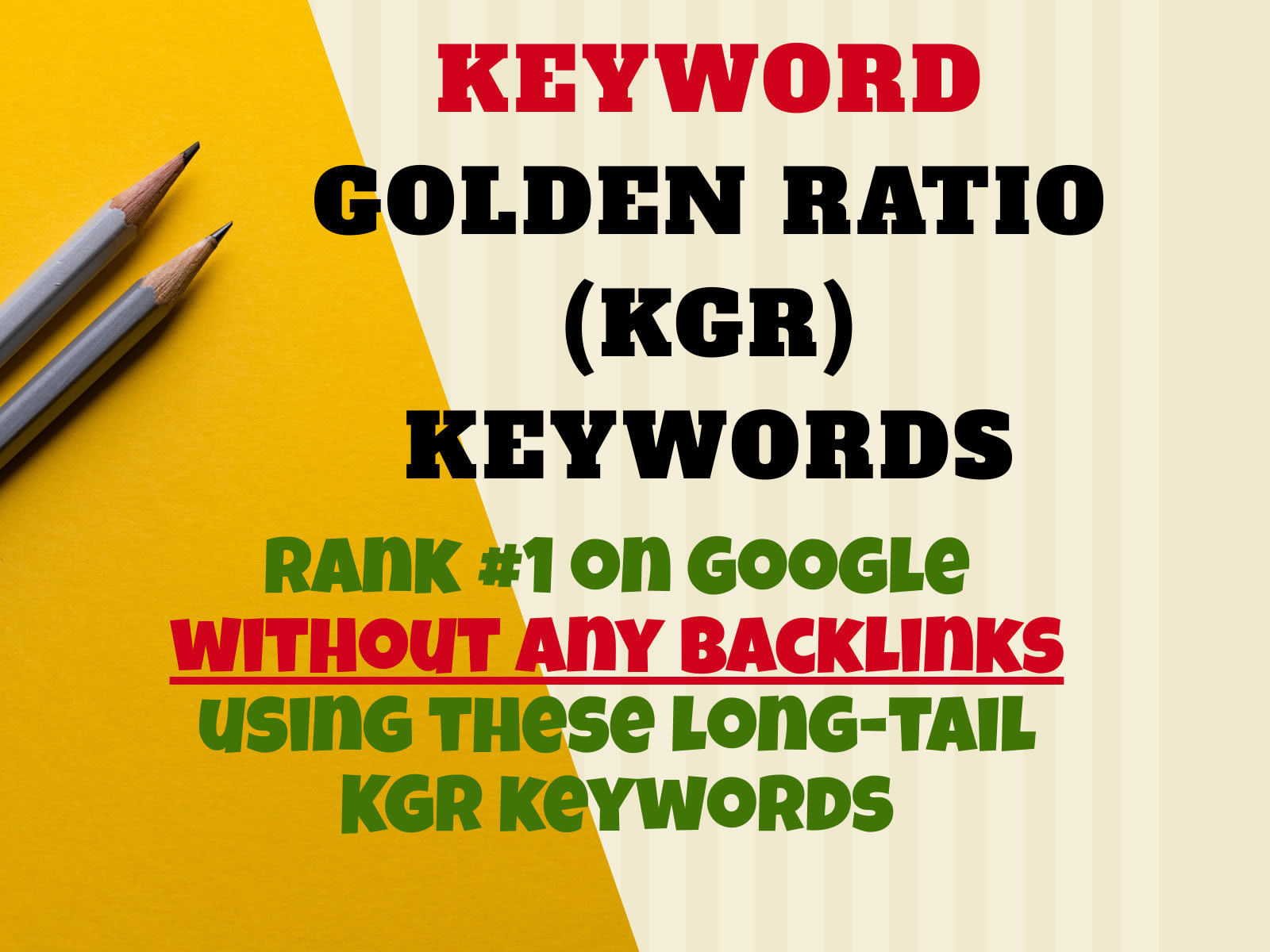Find 15 Keywords Using KGR Keyword Golden Ratio Using Ahrefs