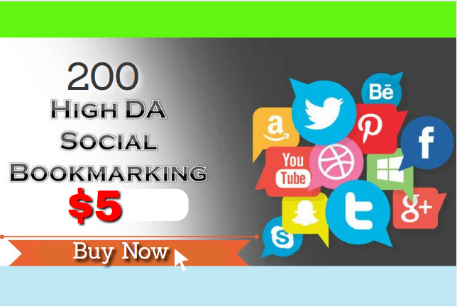 MANUALLY Bookmark your site to TOP 200 Social bookmarking sites for 5