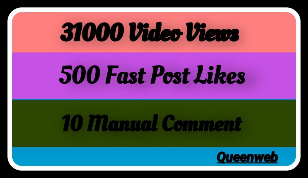 Provide Organic Social Video and Post Promotion Via Social Media Markting