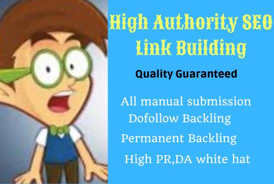 I will do organic High quality PR,DA SEO link building