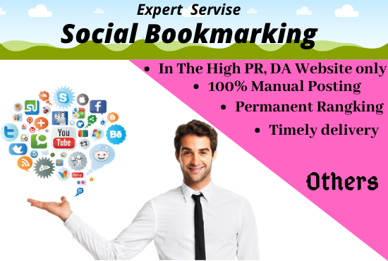 I will do 100 Social bookmarking in high DA site and promote your business