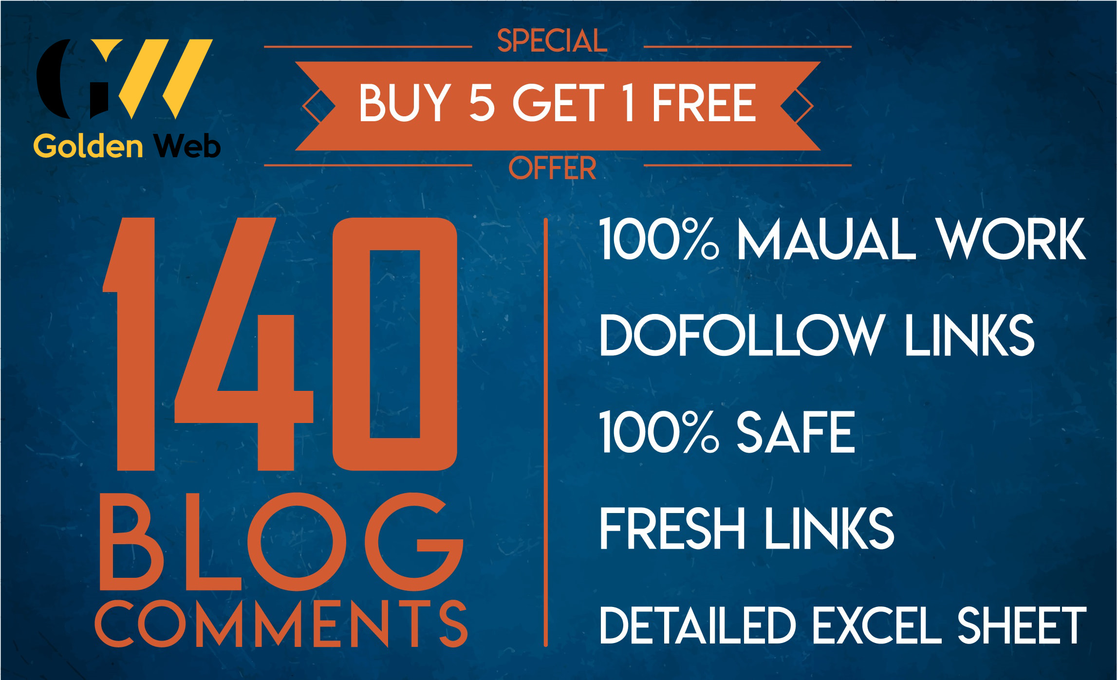 I will do 140 dofollow blog comment backlinks high quality