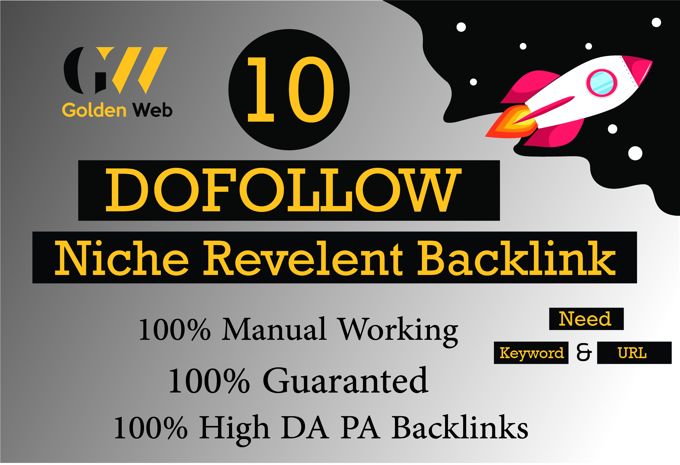 I will create 10 seo dofollow niche high quality backlinks