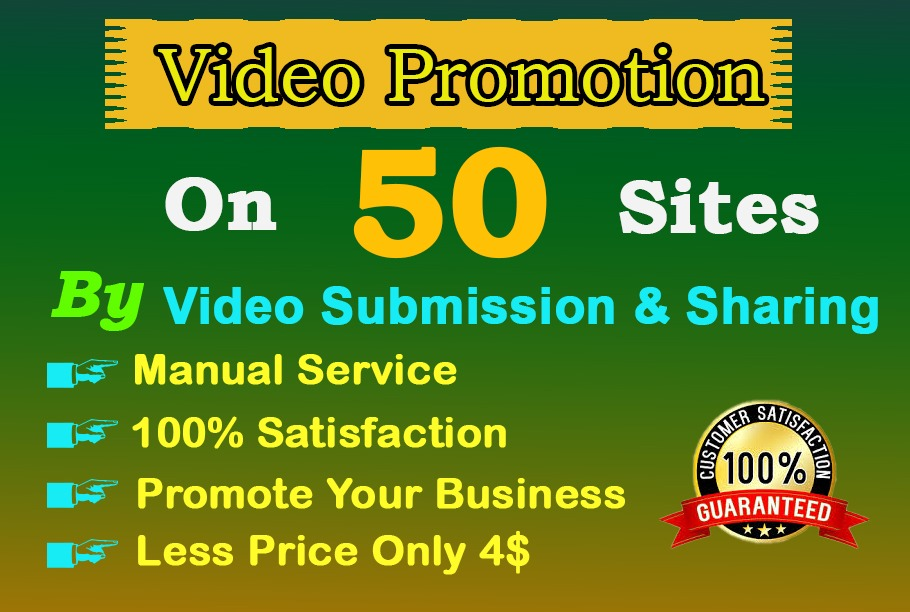 I will upload video submission on high DA video sharing sites by manual