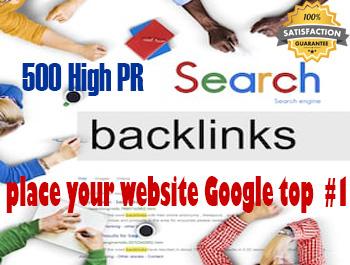 I will do 500 do- follow High PR4-PR7 Backlinks